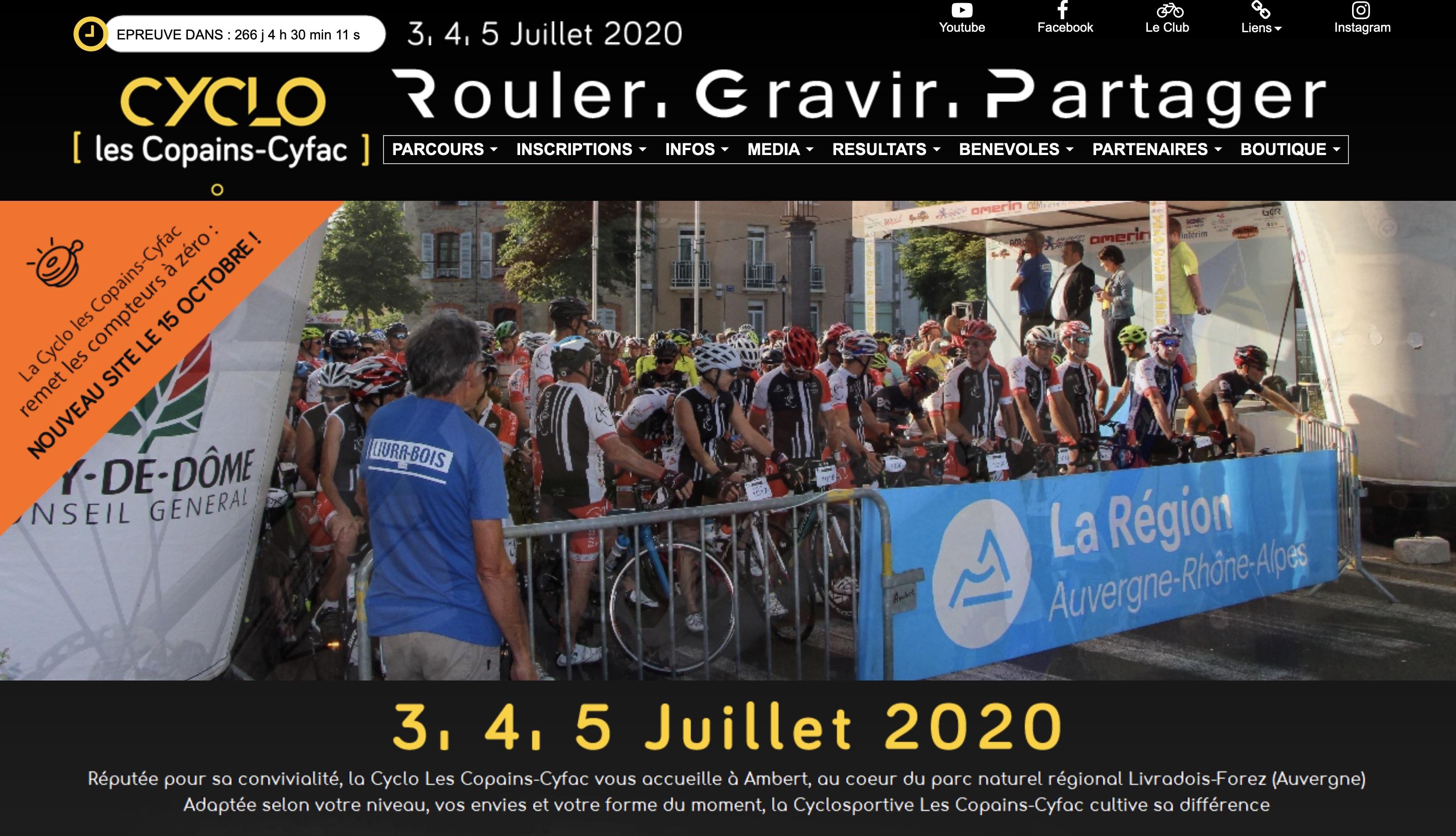 Calendrier Cyclo 2020.La Cyclo Les Copains Cyfac Cacbo Cyclo